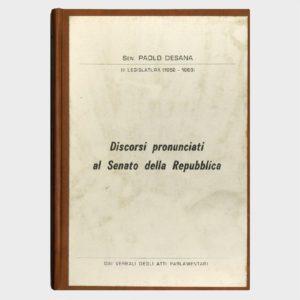 Book Cover: DISCORSI PRONUNCIATI AL SENATO DELLA REPUBBLICA