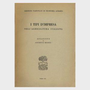 Book Cover: I TIPI DI IMPRESA NELL'AGRICOLTURA ITALIANA