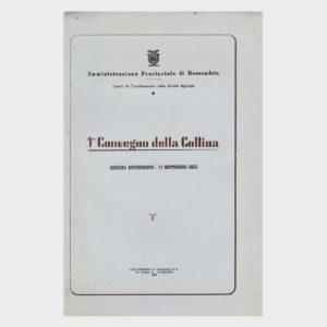 Book Cover: 1° CONVEGNO DELLA COLLINA