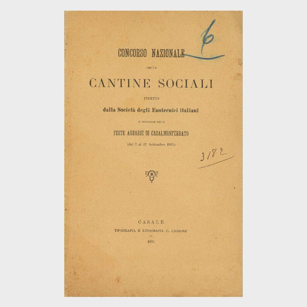 Book Cover: CANTINE SOCIALI CONCORSO NAZIONALE