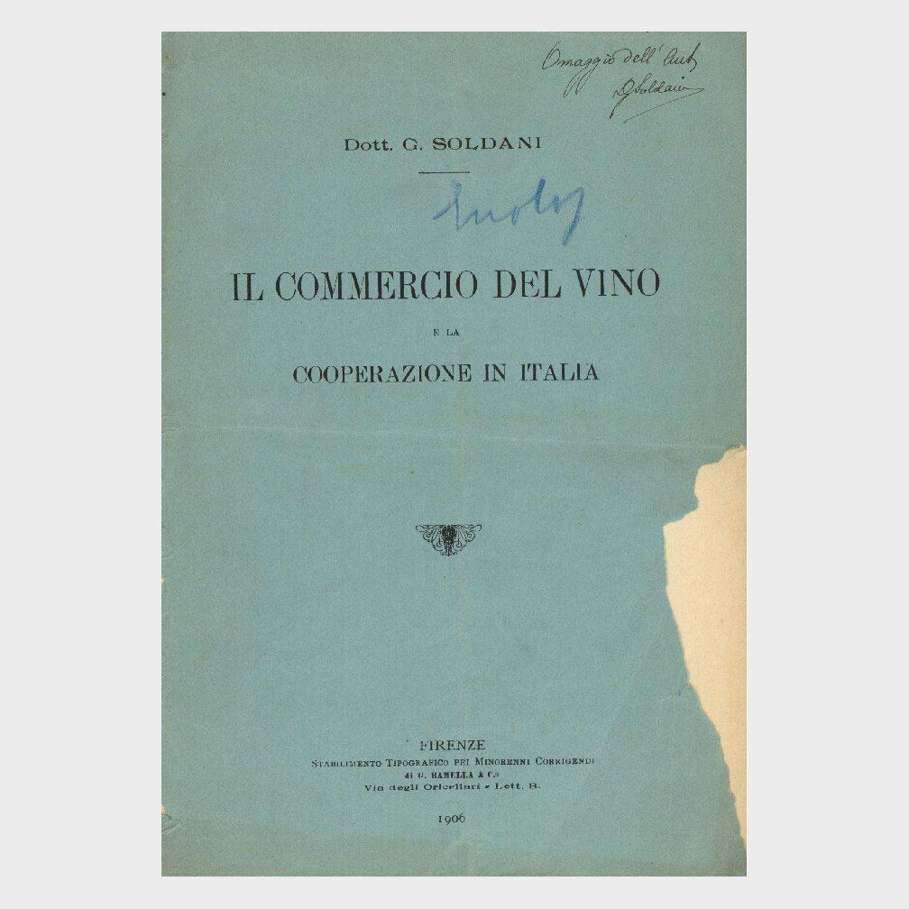 Book Cover: IL COMMERCIO DEL VINO E LA COOPERAZIONE IN ITALIA