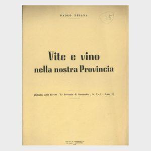 Book Cover: ACCLIMATAZIONE DEI VITIGNI STRANIERI PREGIATI IN PIEMONTE