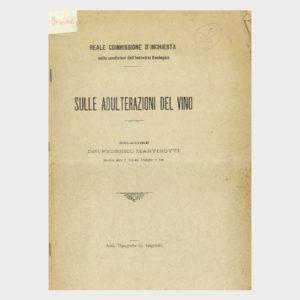Book Cover: SULLE ADULTERAZIONI DEL VINO. COMMISSIONE DI INCHIESTA SULLA CONDIZIONI DELLA INDUSTRIA ENOLOGICA