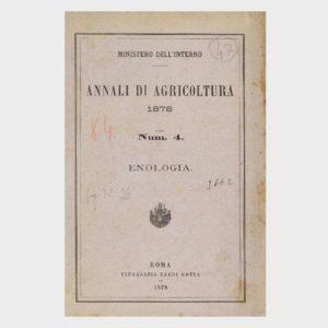 Book Cover: ANNALI DI AGRICOLTURA ED ENOLOGIA N 4
