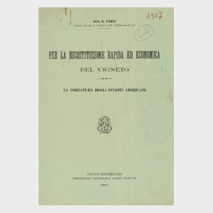Book Cover: PER LA RICOSTRUZIONE RAPIDA ED ECONOMICA DEL VIGNETO - FORZATURA DEGLI INNESTI AMERICANI