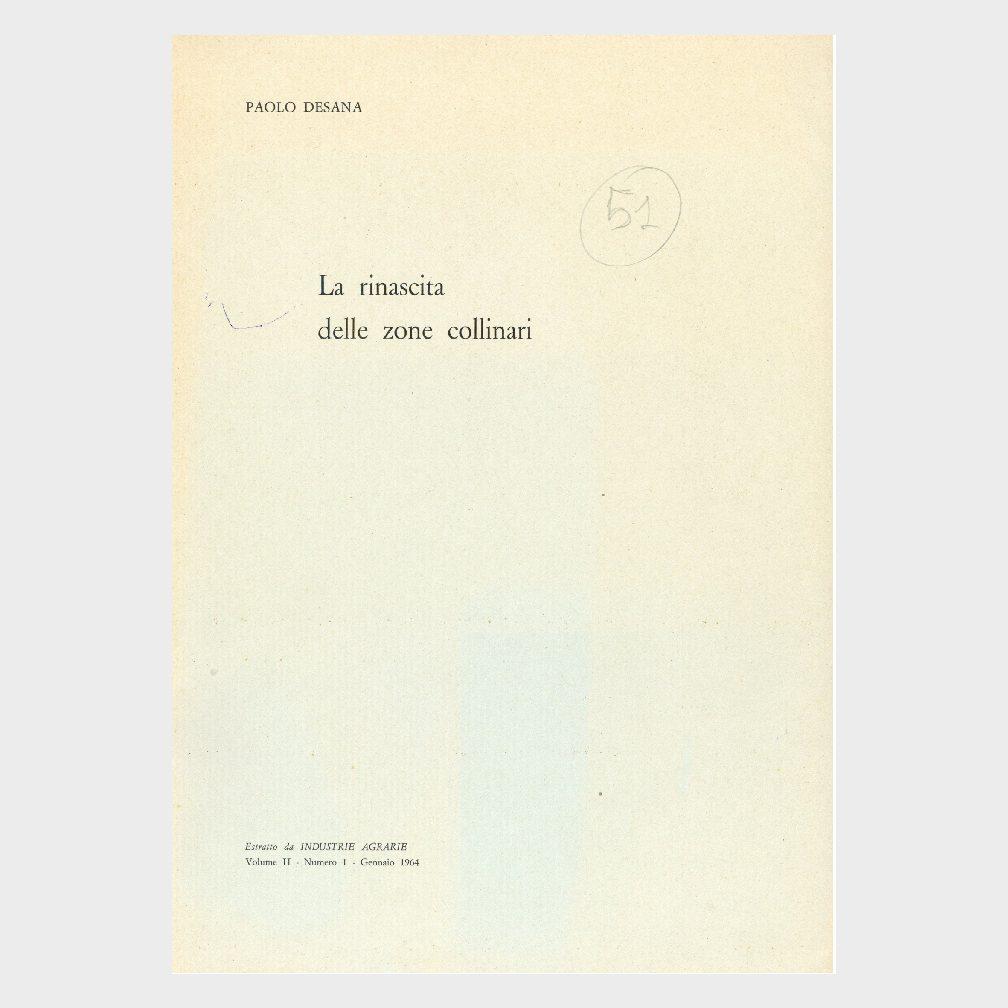 Book Cover: LA RINASCITA DELLE ZONE COLLINARI