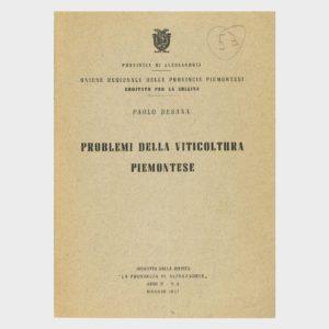 Book Cover: PROBLEMI DELLA VITICOLTURA PIEMONTESE
