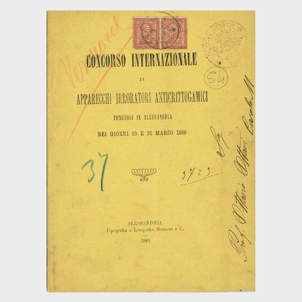 Book Cover: CONCORSO INTERNAZIONALE APPARECCHI IRRORATORI ANTICRITTOGAMICI