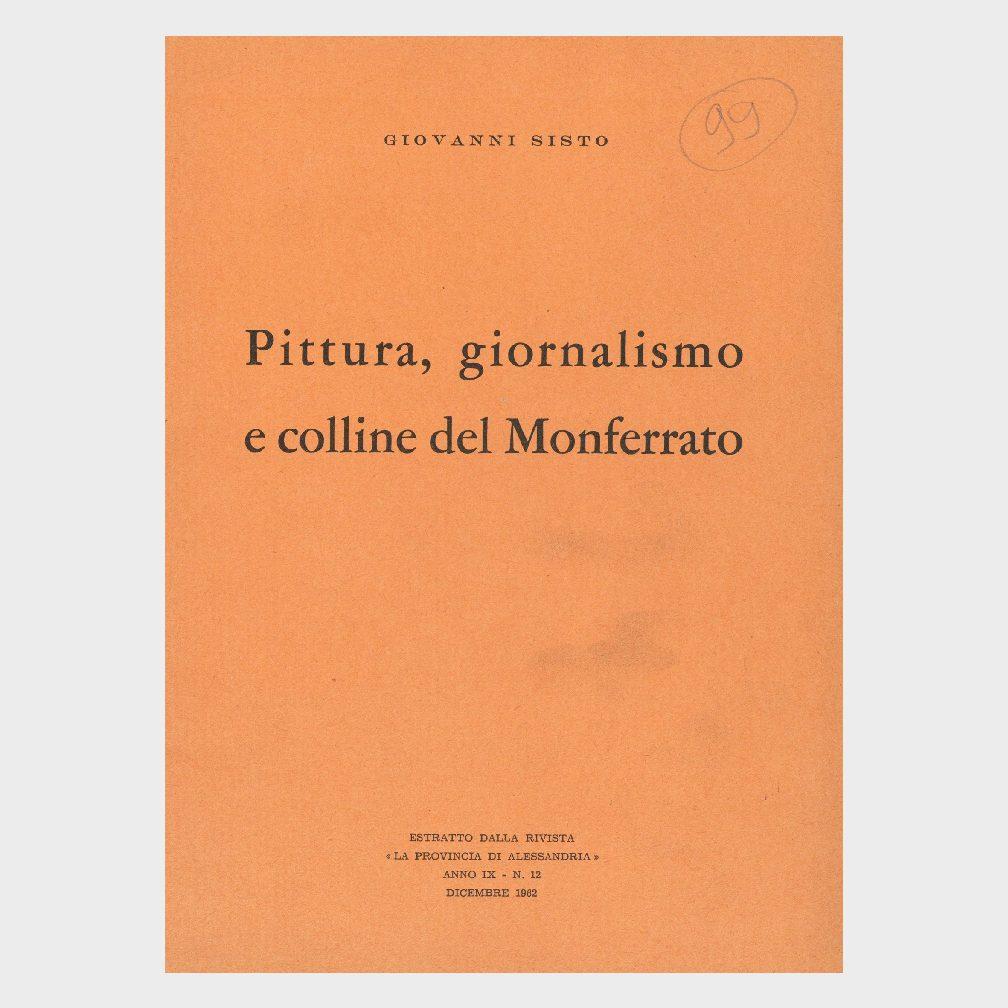 Book Cover: PITTURA, GIORNALISMO E COLLINE DEL MONFERRATO
