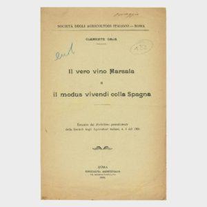 Book Cover: IL VERO MARSALA ED IL MODUS VIVENDI CON LA SPAGNA