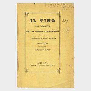 Book Cover: IL VINO ED I SUOI COSTITUENTI – GUIDA PER FABBRICARLO ARTIFICIALMENTE