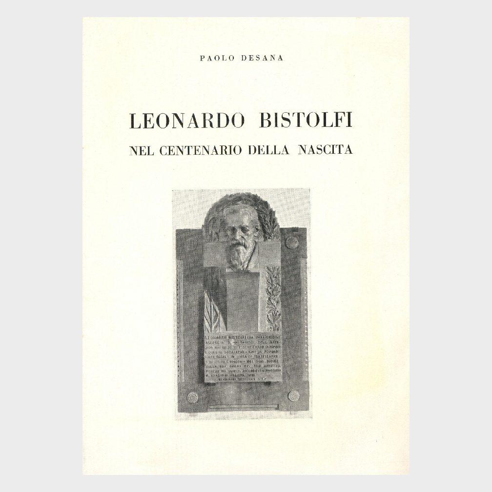Book Cover: LEONARDO BISTOLFI NEL CENTENARIO DELLA NASCITA