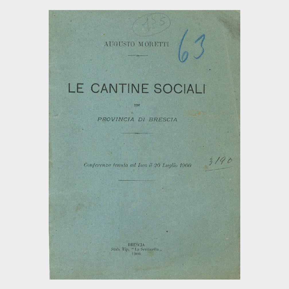 Book Cover: LE CANTINE SOCIALI IN PROVINCIA DI BRESCIA