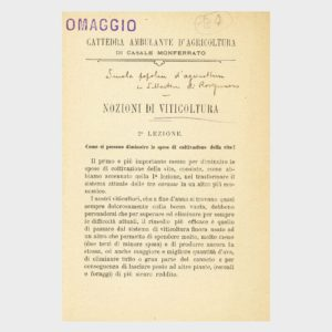 Book Cover: NOZIONI DI VITICOLTURA