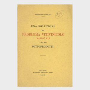 Book Cover: UNA SOLUZIONE DEL PROBLEMA VITIVINICOLA NAZIONALE E DEI SUOI SOTTOPRODOTTI