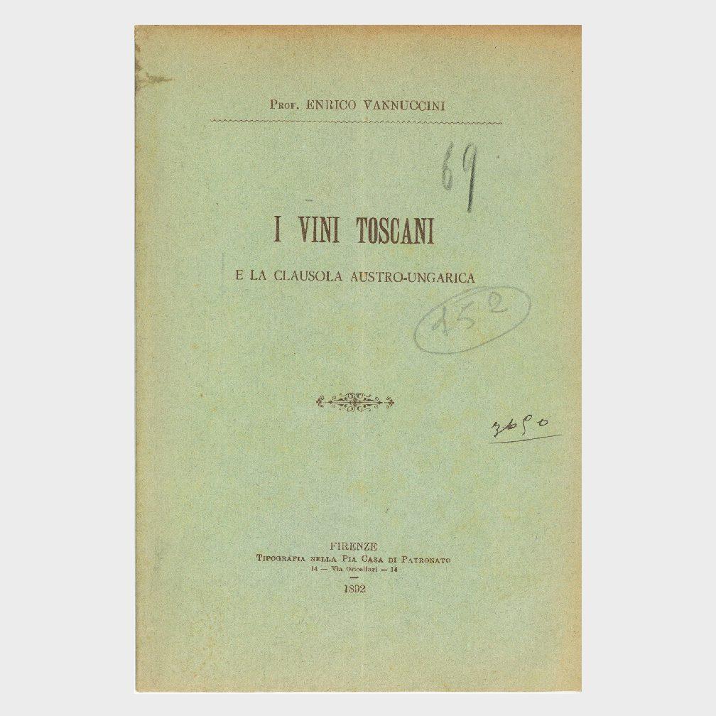 Book Cover: I VINI TOSCANI E LA CLAUSOLA AUSTRO - UNGARICA