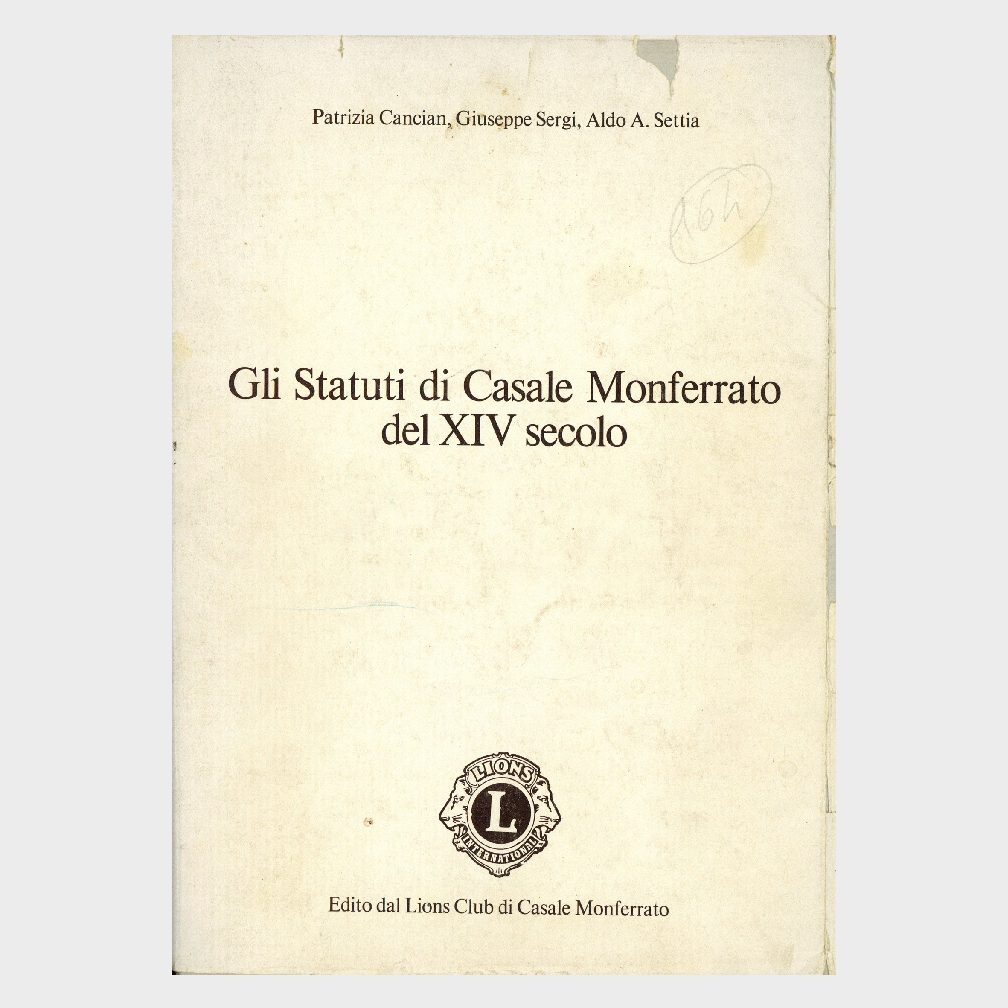 Book Cover: GLI STATUTI DI CASALE MONFERRATO DEL XIV° SECOLO