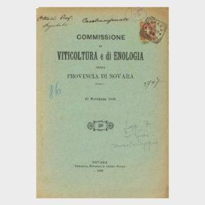 Book Cover: COMMISSIONE VITICOLTURA ED ENOLOGIA DELLA PROVINCIA DI NOVARA