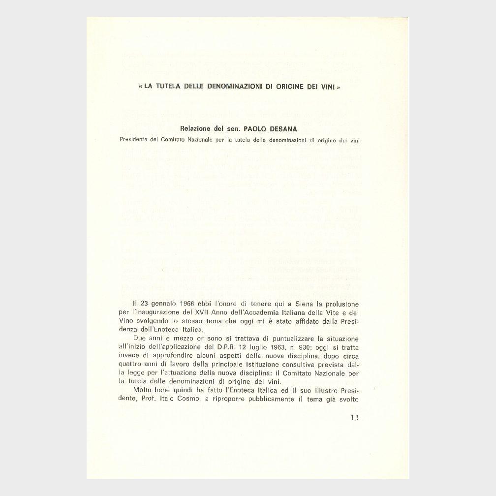 Book Cover: RELAZIONI SULLA DOC E ARTICOLI