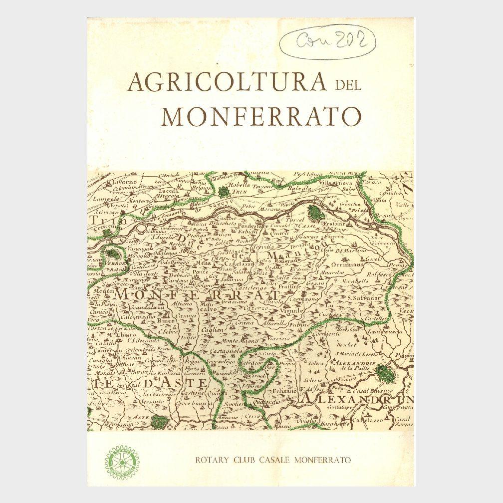 Book Cover: IL MONFERRATO E LA SUA AGRICOLTURA
