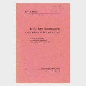 Book Cover: TUTELA DELLE DENOMINAZIONI E REPRESSIONE DELLE FRODI VINICOLE