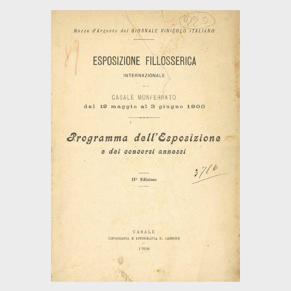 Book Cover: ESPOSIZIONE FILLOSSERICA INTERNAZIONALE