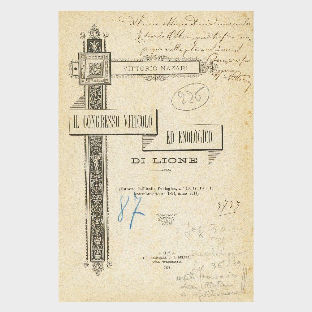 Book Cover: IL CONGRESSO VITICOLO ED ENOLOGICO DI LIONE