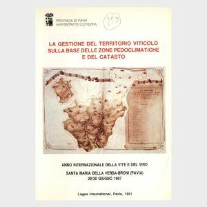 Book Cover: LA GESTIONE DEL TERRITORIO VITICOLO SULLA BASE DELLE ZONE PEDOCLIMATICHE E DEL CATASTO
