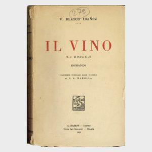 Book Cover: IL VINO ( LA BODEGA ) ROMANZO