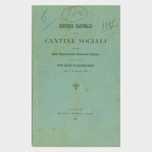 Book Cover: CONCORSO NAZIONALE CANTINE SOCIALI (FESTE AGRARIE DEL MONFERRATO)