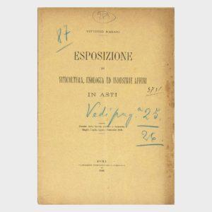 Book Cover: ESPOSIZIONE DI VITICOLTURA, ENOLOGIA E INDUSTRIE AGRARIE E AFFINI AD ASTI