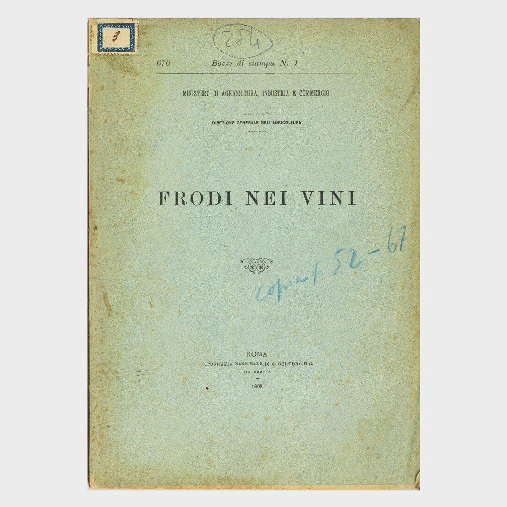 Book Cover: FRODI NEI VINI