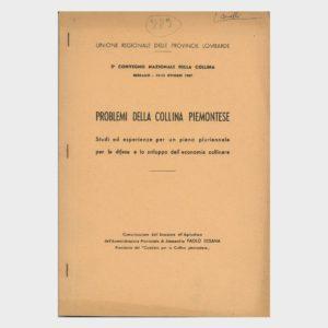 Book Cover: PROBLEMI DELLA COLLINA PIEMONTESE