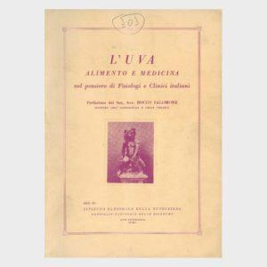 Book Cover: L'UVA ALIMENTO E MEDICINA NEL PENSIERO DI FISIOLOGI E CLINICI ITALIANI