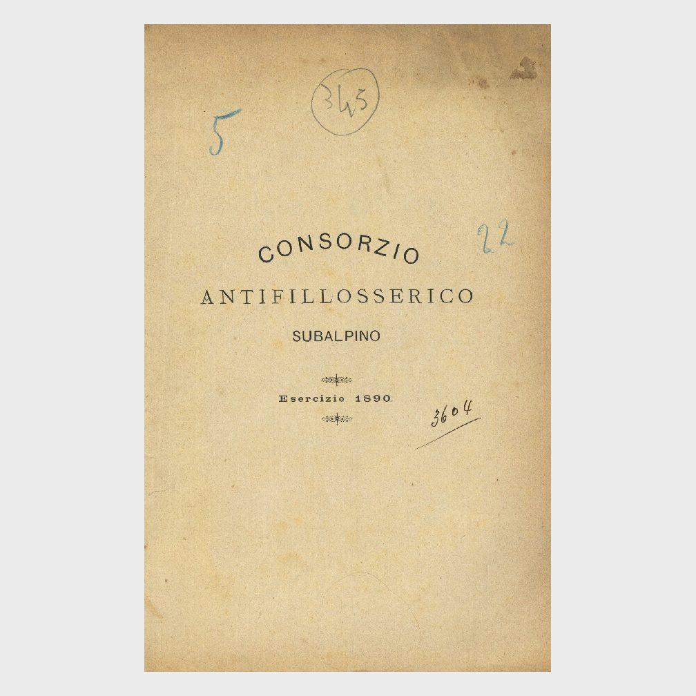 Book Cover: CONSORZIO ANTIFILLOSSERICO SUBALPINO