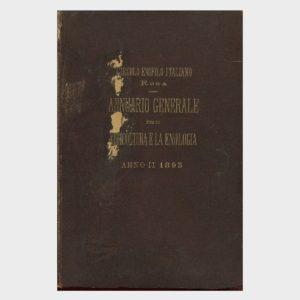 Book Cover: ANNUARIO GENERALE PER LA VITICOLTURA E L'ENOLOGIA