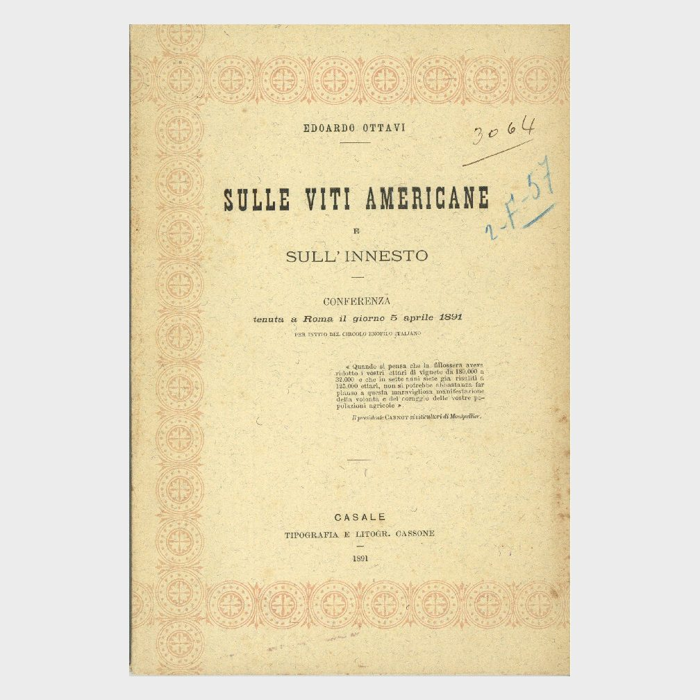 Book Cover: SULLE VITI AMERICANE E SULL'INNESTO