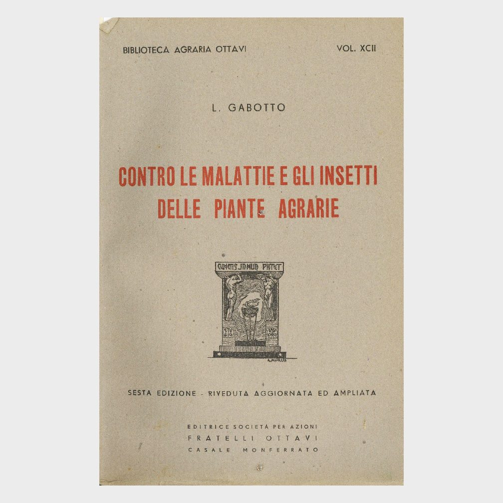 Book Cover: CONTRO LE MALATTIE E GLI INSETTI DELLE PIANTE AGRARIA
