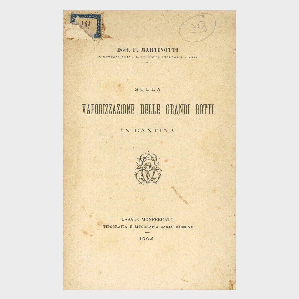 Book Cover: VAPORIZZAZIONE DELLE GRANDI BOTTI IN CANTINA