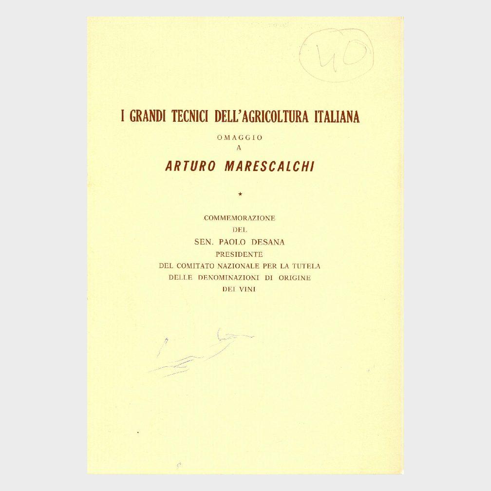 Book Cover: I GRANDI TECNICI DELLA AGRICOLTURA ITALIANA – ARTURO MARESCALCHI