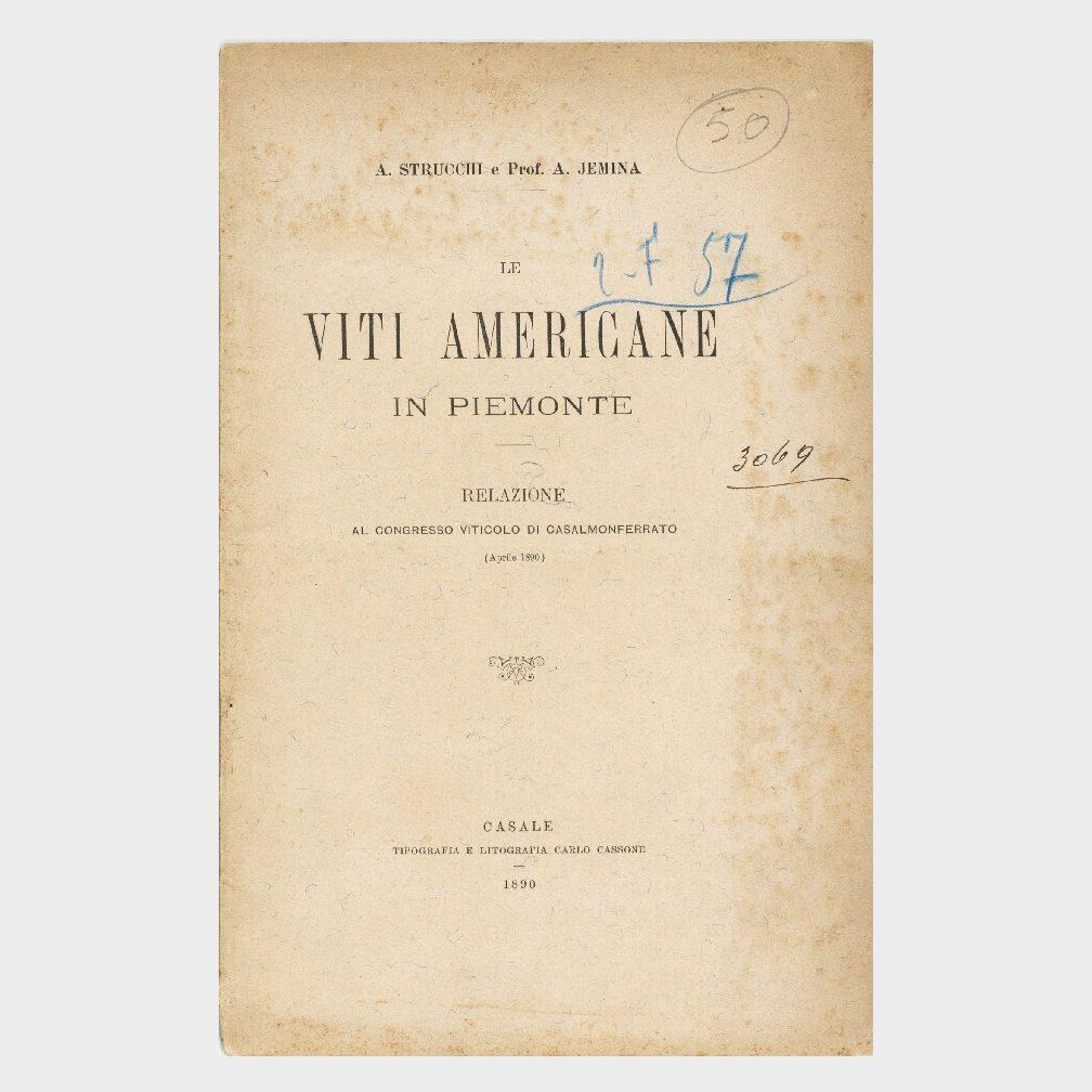 Book Cover: VITI AMERICANE IN PIEMONTE