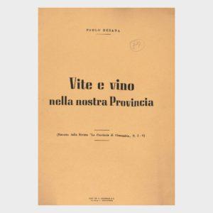 Book Cover: VITE E VINO NELLA NOSTRA PROVINCIA