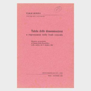 Book Cover: TUTELA DELLE DENOMINAZIONI E REPRESSIONE DELLE FRODI