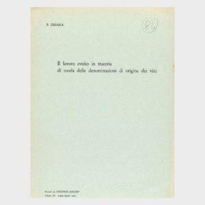 Book Cover: IL LAVORO SVOLTO IN MATERIA DI DOC DEI VINI