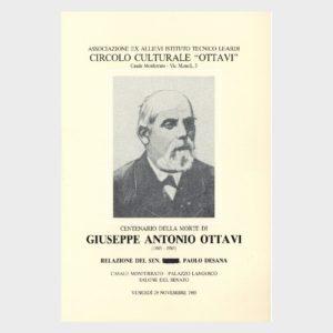 Book Cover: GIUSEPPE ANTONIO OTTAVI (CENTENARIO DELLA MORTE)