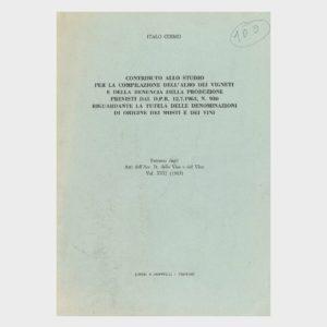 Book Cover: CONTRIBUTO ALLO STUDIO PER LA COMPILAZIONE DELL'ALBO VIGNETI E DENUNCIA DI PRODUZIONE
