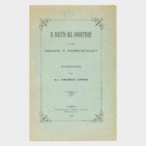 Book Cover: IL DIRITTO DEL CONDUTTORE È REALE O PERSONALE - DISSERTAZIONE