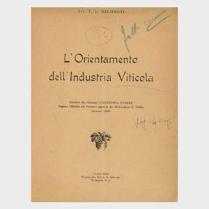 Book Cover: L'ORIENTAMENTO DELLA INDUSTRIA VITICOLA