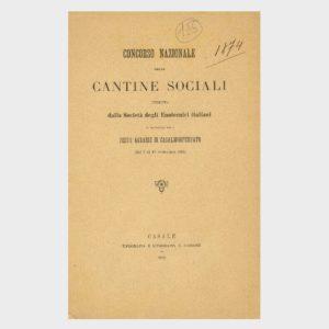 Book Cover: CONCORSO NAZIONALE DELLE CANTINE SOCIALI – FESTE AGRARIE CASALE MONFERRATO