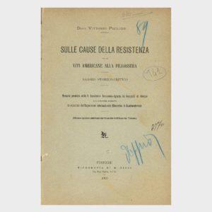 Book Cover: SULLE CAUSE DELLA RESISTENZA DELLE VITE AMERICANE ALLA FILLOSSERA - ESPOSIZIONE INTERNAZIONALE FILLOSSERICA DI CASALMONFERRATO